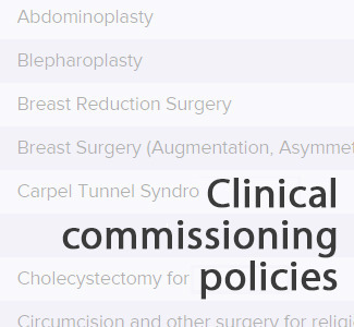 Clinical commissioning policies