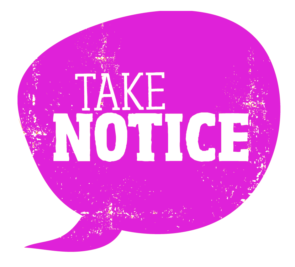 Take Notice Icon web