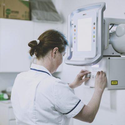 Nurse on machine