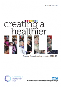 Hull CCG Annual Report 214-2015 Front Page