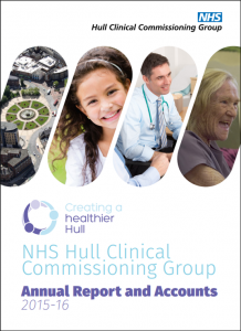 Hull CCG Annual Report 2015/16 front page image