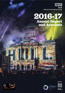 Hull CCG Annual Report 2016/17 image of front page